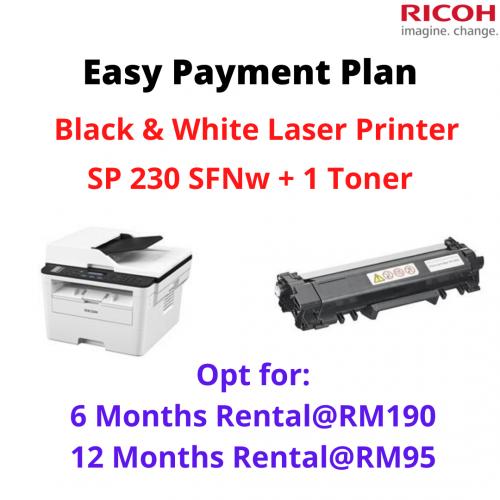 Mono Laser Printer SP 230SFNw + 1 Toner
