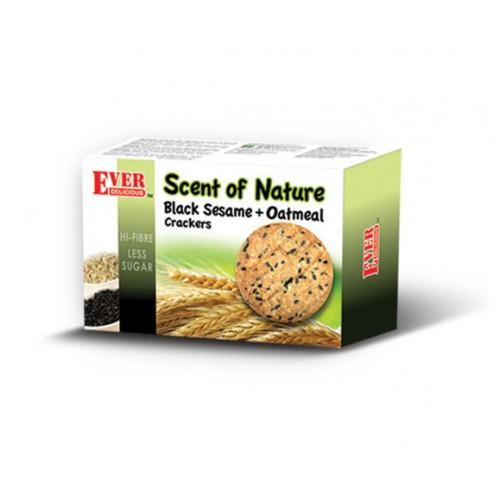 Hi-Fibre Black Sesame + Oatmeal Crackers